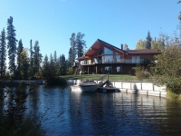 waterfront-log-home-yukon-for-sale